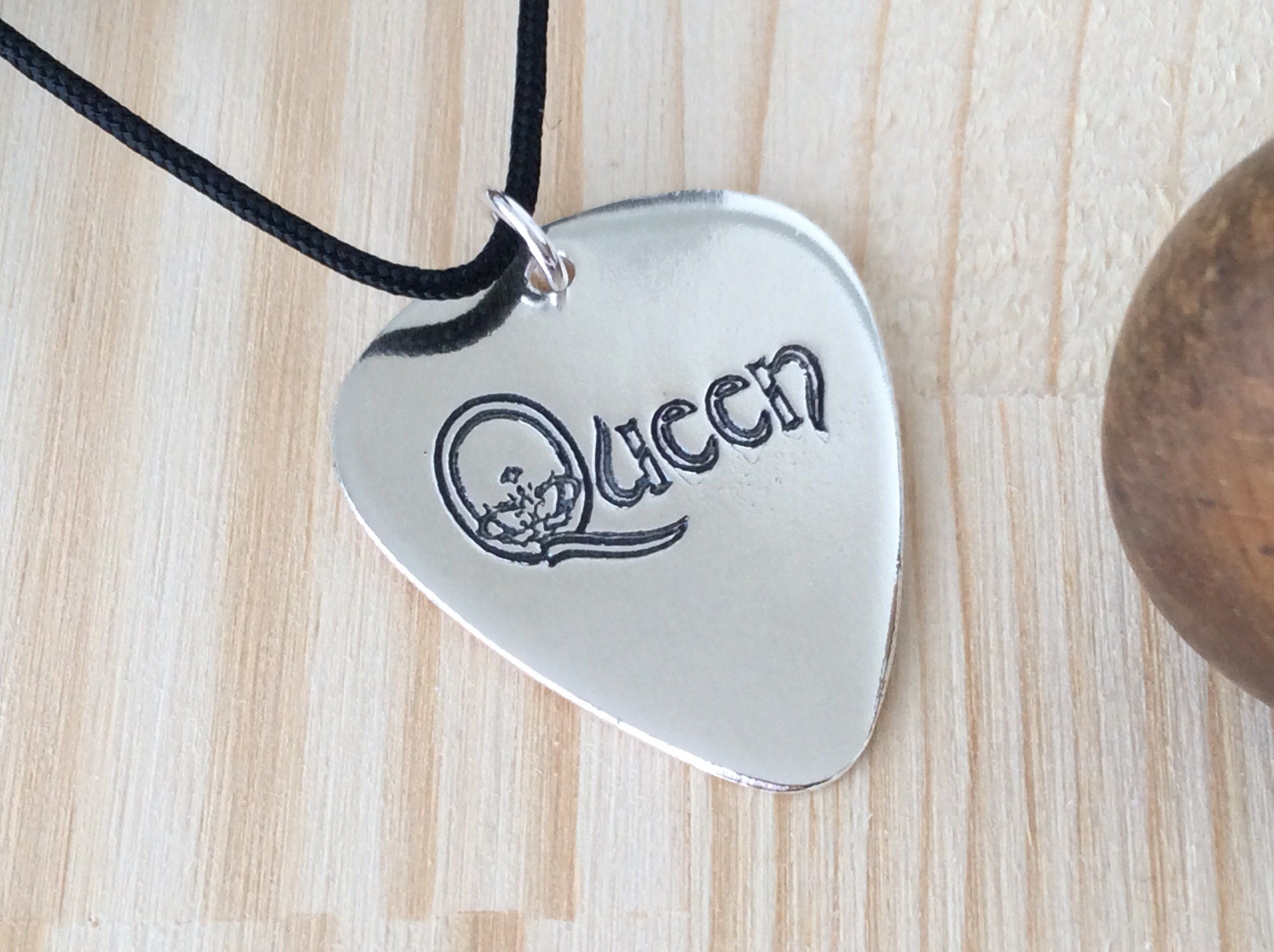 The Queen Guitar player gift,Guitar gifts,Gift for Musician,Music teacher gift,Guitar pick pendant,Custom guitar pick,Guitar pick holder #customguitars