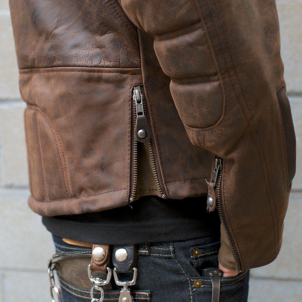 Roland Sands Design Enzo Jacket Chompas De Cuero Chaqueta De Cuero Marron Chaquetas De Moto Hombre [ 1000 x 1000 Pixel ]