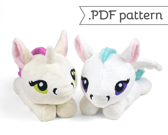 Unicorn Pegasus Merpony Kelpie Hippocampus Pony Horse Plush Sewing ...