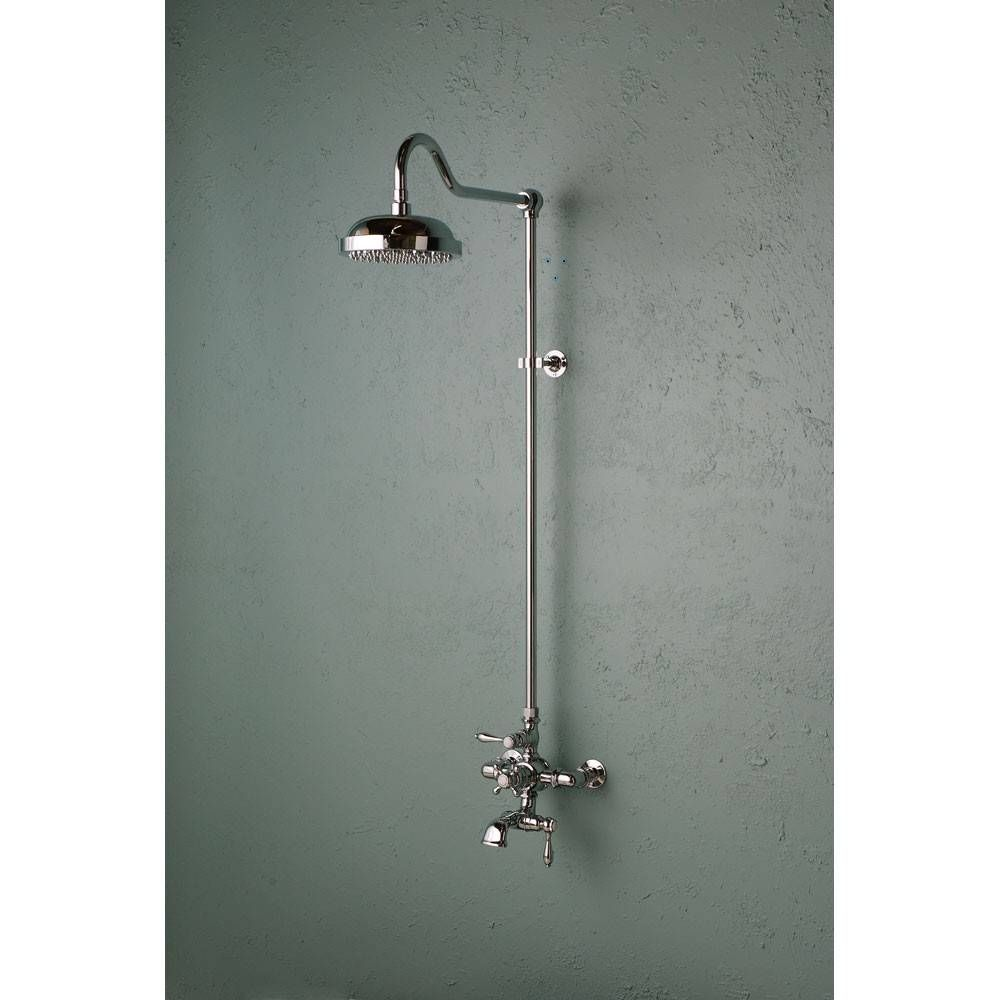 Exposed Wall Mount Thermostatic Tub And Shower Faucet With Images Tub And Shower Faucets Shower Faucets Shower Tub
