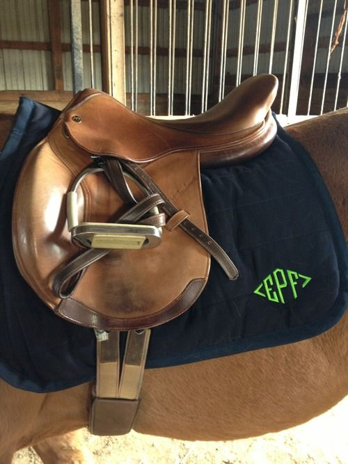 Even my horse is monogrammed