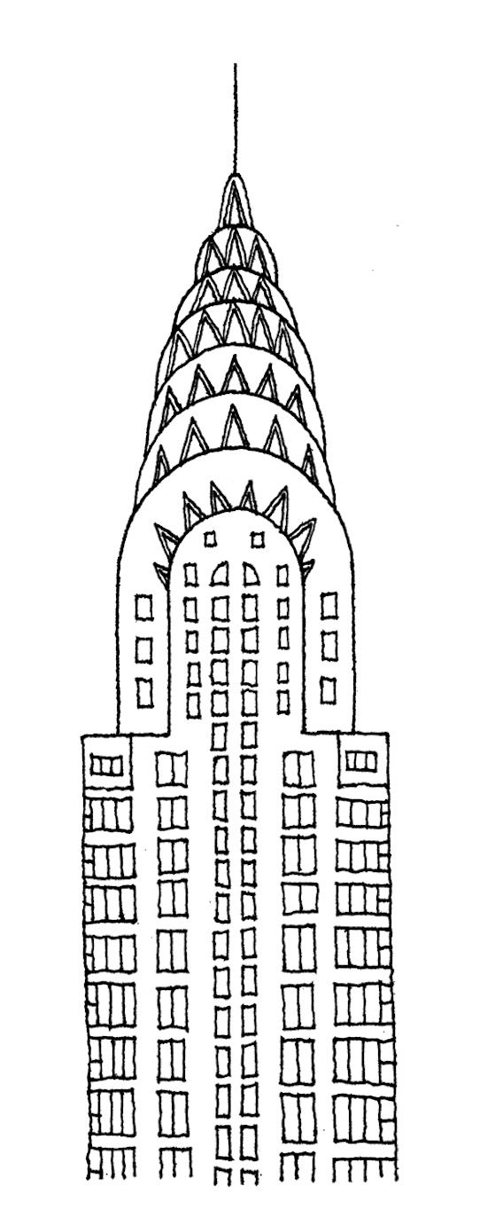 chrysler building drawing | Architectural drawings by illustrator ...
