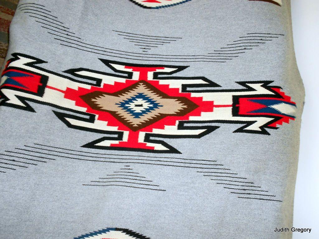 Vintage Chimayo Rug 7 X 4 4 Native American Indian Wool