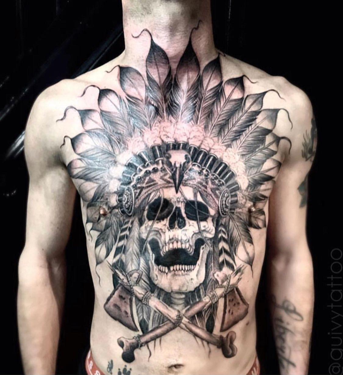 7d5cd63a831f7 Guivy Tattoo - Art For Sinners - GENEVA #native #american #tattoos #skull  #apache #Indian #indien #tatouage #geneve #salon #studio #cheyenne #homme # tatoo # ...