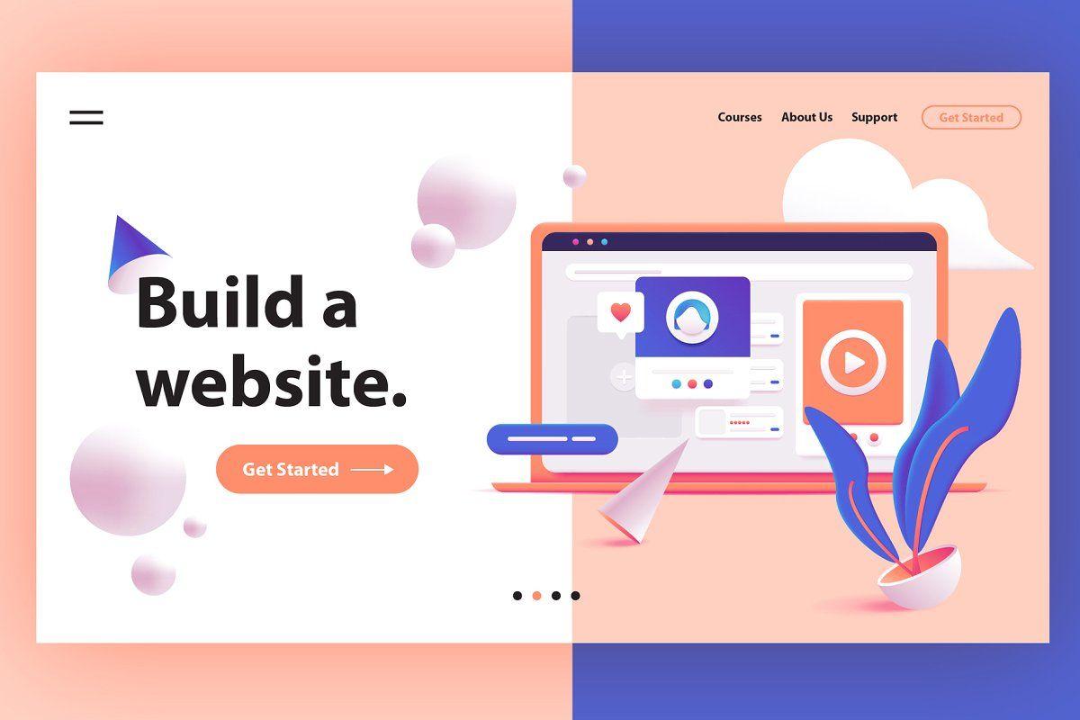 3d Web Illustrations Hero Headers In 2020 Page Design Landing Page Design Web Design