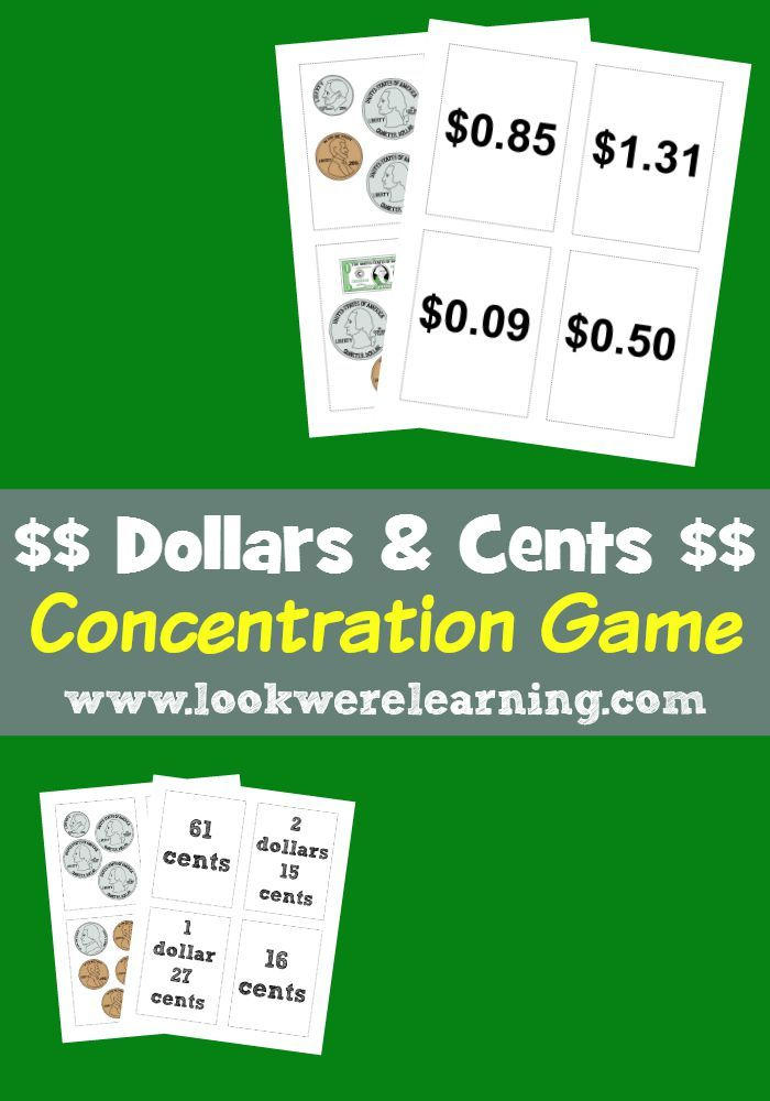 Money Activities for Second Grade | Money activities, Concentration ...