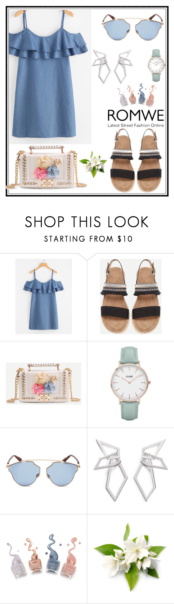 """""""Romwe 1"""" by amra-f ❤ liked on Polyvore featuring CLUSE, Christian Dior and W. Britt"""