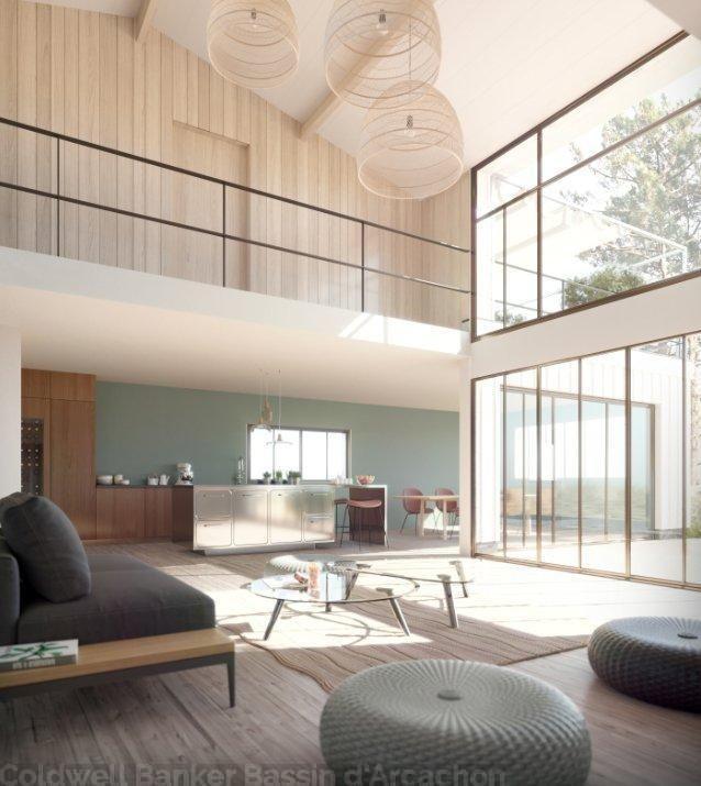 Villa en bois Lege Cap Ferret Plein Centre neuve 4 chambres - location maison cap ferret avec piscine