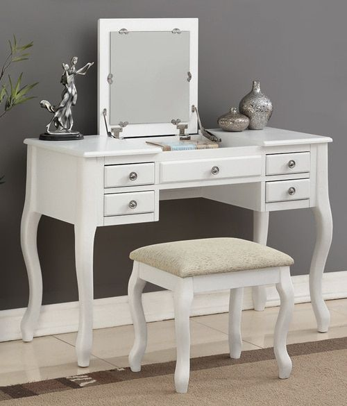 Brittany Bone White Vanity Table Set in 2019 | Vanity table set ...