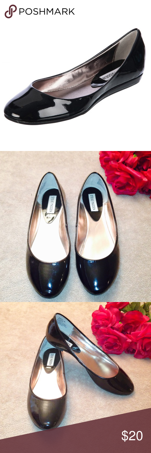 Steve Madden Flats ❤️ Great condition ❤️ Comes from a smoke-free home ❤️ No trades or holds ❤️ Please send price offers through Poshmark's negotiation system. ❤️Thanks! Steve Madden Shoes Flats & Loafers