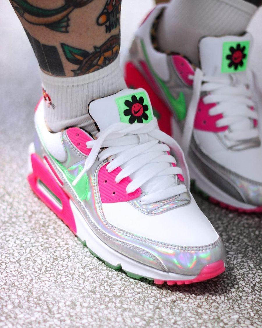 air max 90 donna running rosa