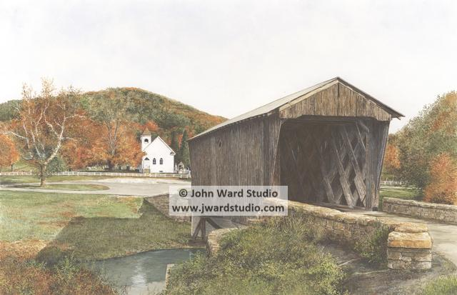 Goddard White Covered Bridge John Ward Covered Bridges Old