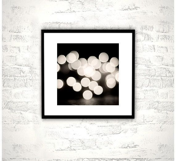 Black And White Abstract Photography Bokeh Lights Print Modern Photo Circles Wall Art Artwork C Circle Wall Art Black And White Abstract Abstract Photography