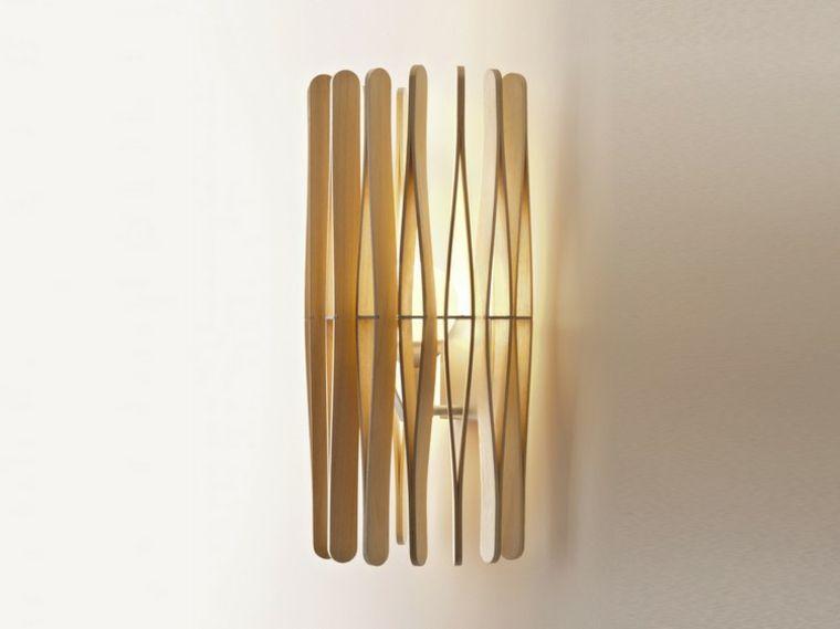 Lamparas de pared 50 diseños naturales de madera