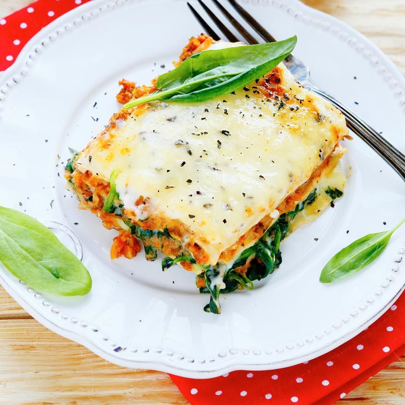 Recette de lasagne aux champignons et aux épinards ...