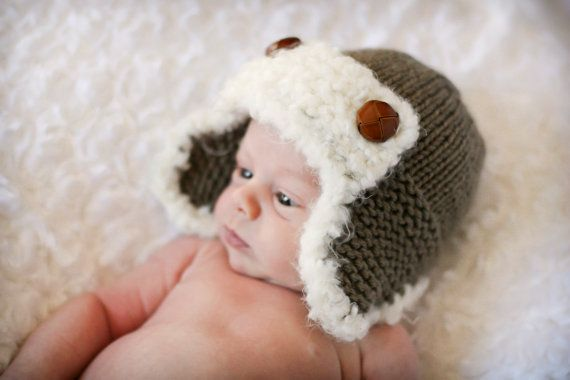 The Aviator Hat Knitting PATTERN pdf format for by ...
