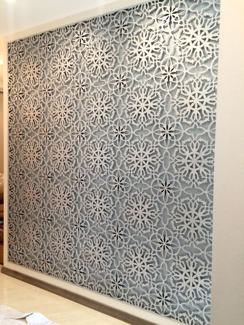 Laser Cut Wall Panel Patterned And Painted Laser Cut Panels
