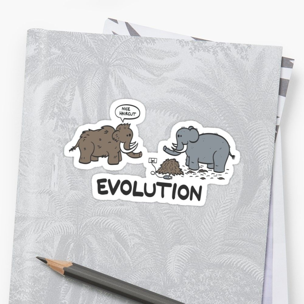 Mammoth evolution sticker redbubble evolution dinos dinosaur elephant