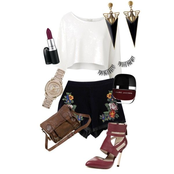 A fashion look from December 2014 featuring Witchery tops, Pour La Victoire pumps and VIPARO messenger bags. Browse and shop related looks.
