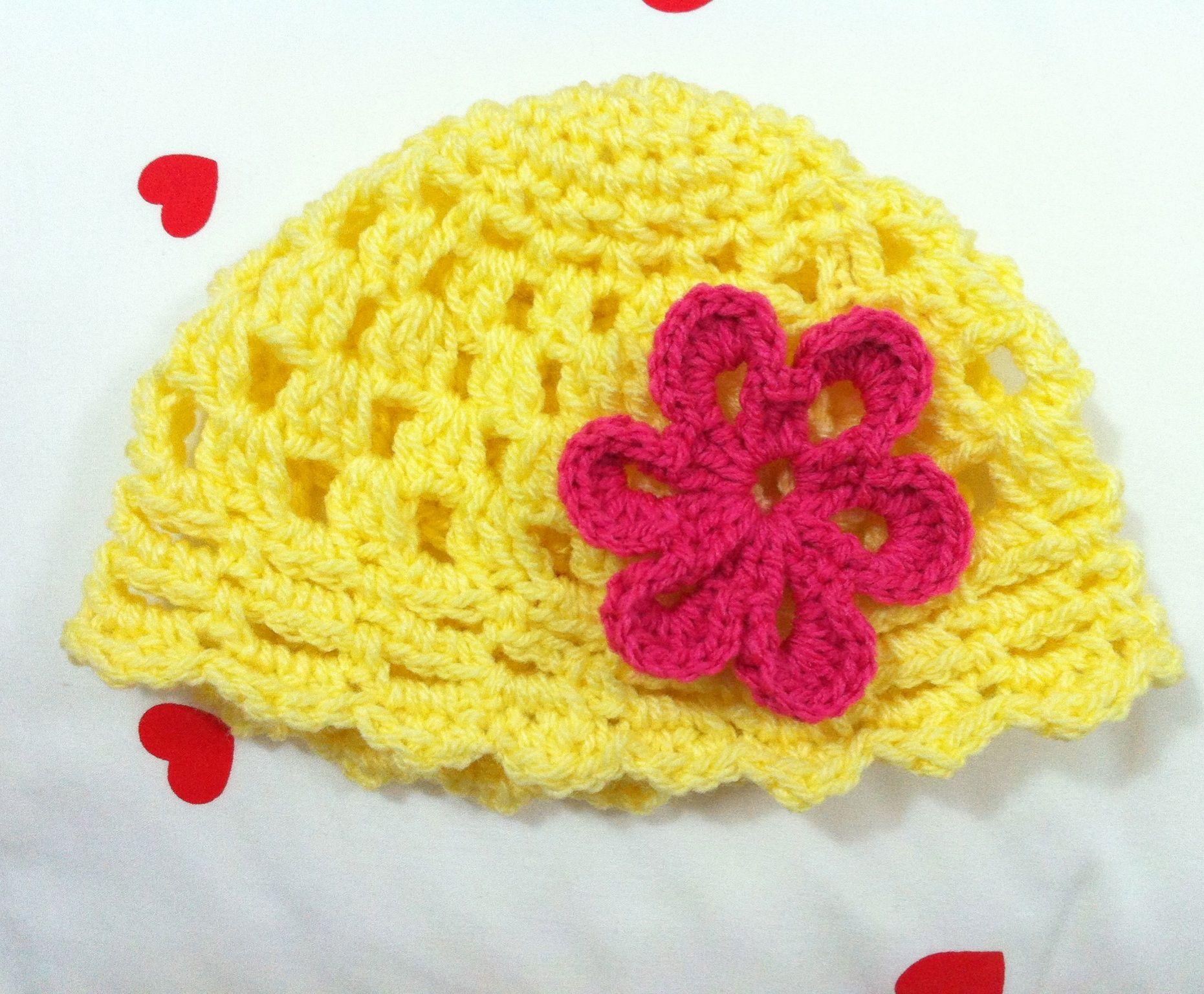 Crochet baby beanie | Crochet I Made ! | Pinterest | Bonito, Tejido ...