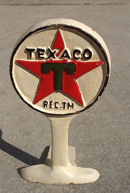 Vintage Cast Iron Texaco Door Stop by MerishcasVintage on Etsy, $90.00 - Vintage Cast Iron Texaco Door Stop Texaco, Iron And Doors