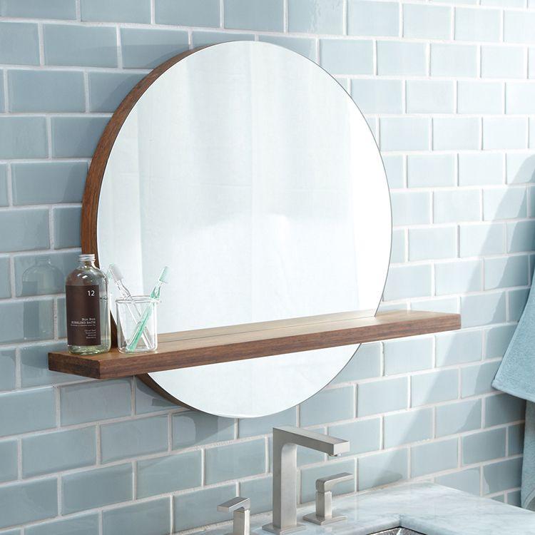 Native Trails Mc222 Solace Vanity Mirror Rbhmirrors Round Mirror Bathroom Bathroom Mirror With Shelf Bathroom Mirror