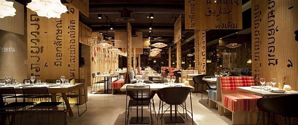 Asian restaurant interior design