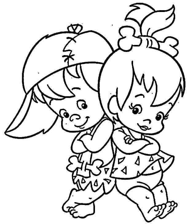 The Flintstones Coloring Pages 35 | Coloring pages | Pinterest ...