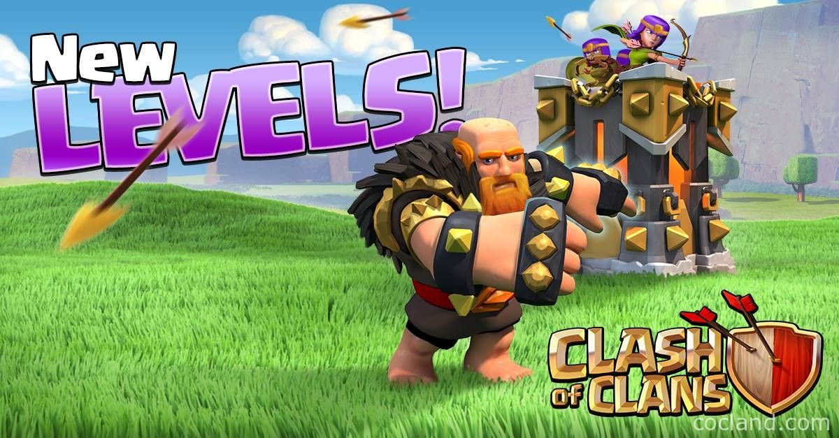 clash of clan rage clash of clans july update new troop and building levels http