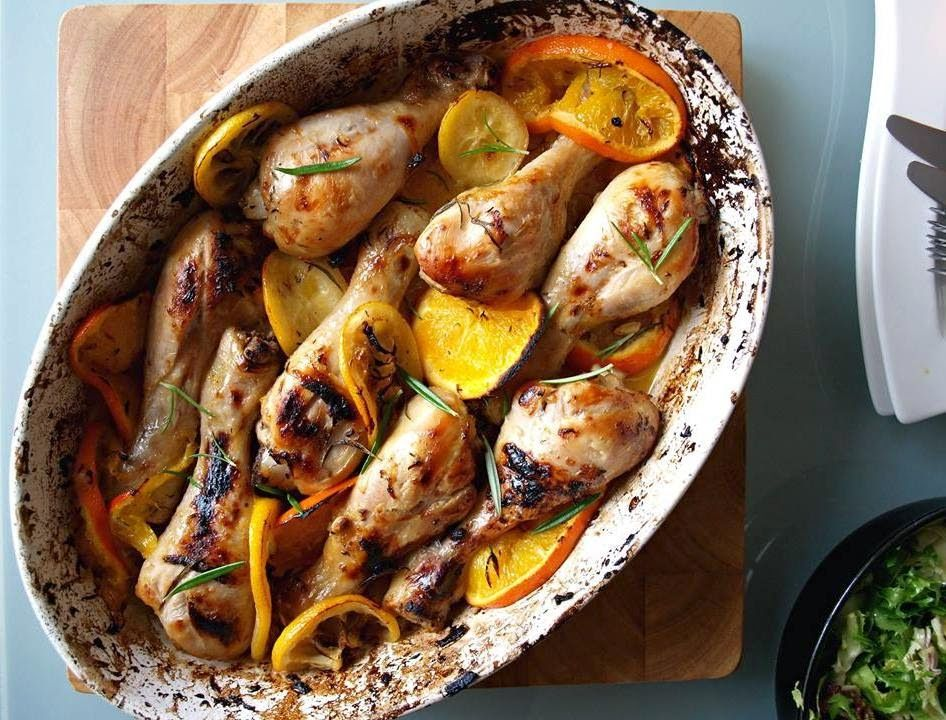 Baked herb and citrus chicken thighs