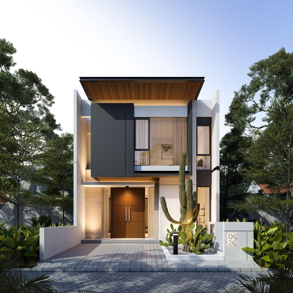 Gallery Of Monohouse Chapter I Monostudio 17 Modern Exterior House Designs Minimal House Design Modern Small House Design