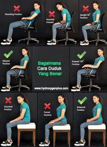 How To Sit Properly Latihan Fisik Latihan Punggung Tips Kebugaran