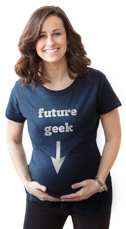 46b0eb251cc66 Amazon.com: Women's Future Geek Maternity Shirt Funny Pregnancy T shirt:  Clothing