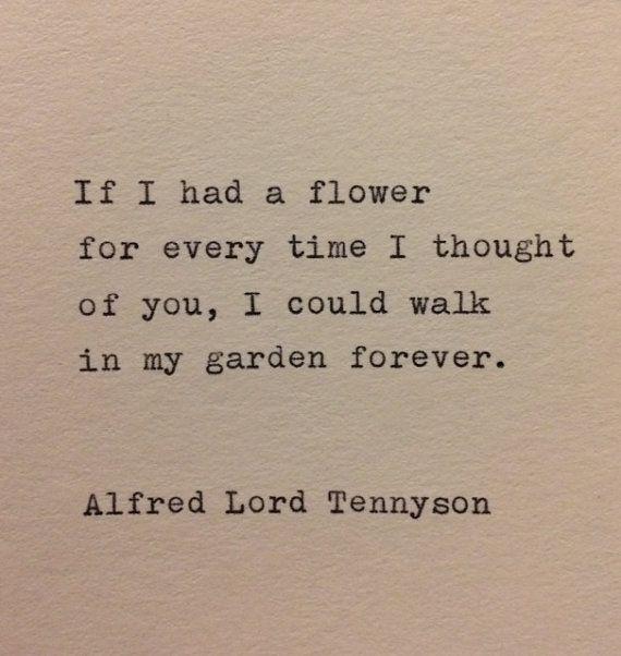 Alfred Lord Tennyson Liebe Zitat auf Schreibmaschine   Etsy