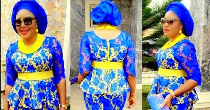 Trendy Lace Designs - Yellow and Blue Combinations Skirt and Blouse   ....Trendy Lace Designs - Yellow and Blue Combinations Skirt and Blouse