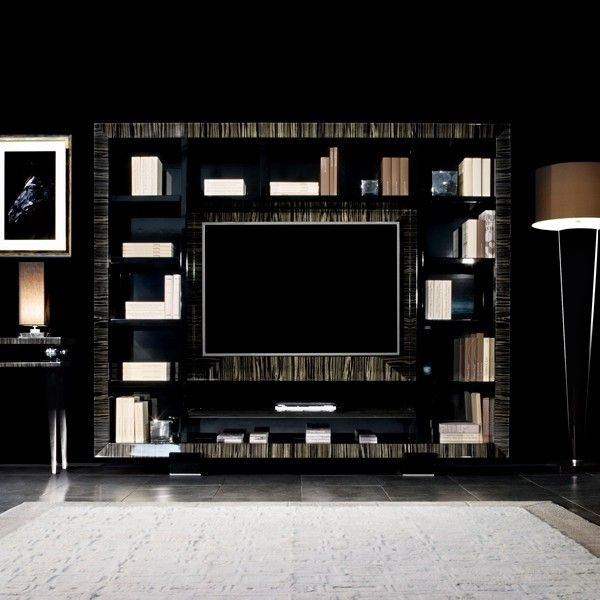 Tv Cabinet Italy Luxury Media In Wengé Or Lacquer Finish For The