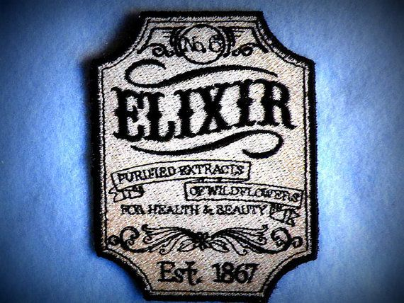 Apothecary Elixir No.6 Iron on Patch
