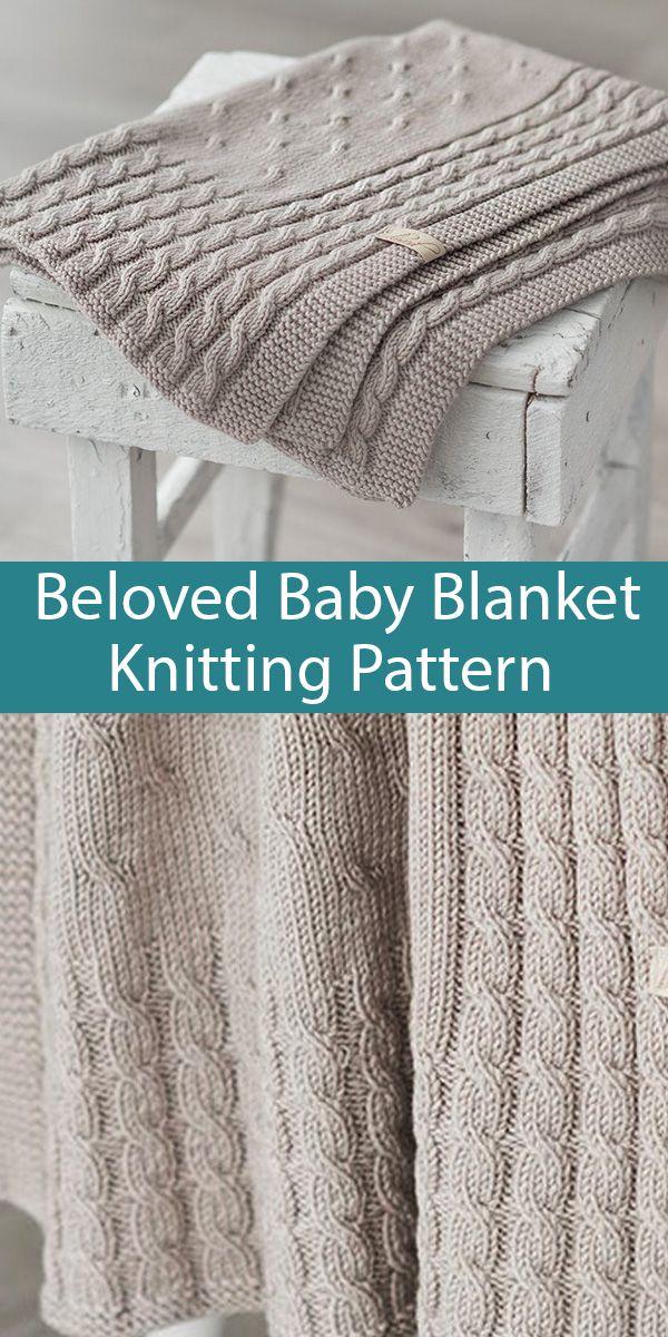 Knitting Pattern for Beloved Baby Blanket