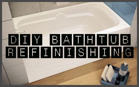 How To Restore And Refinish A Tub Bathtub Refinishing Diy