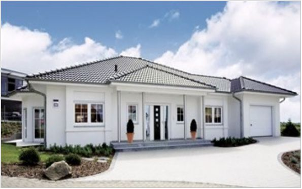 Musterhaus bungalow mit garage  Ansichten Typ Bungalow Nadine | Haus | Pinterest | Bungalows