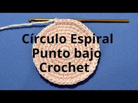 Círculo Espiral con Punto Bajo en tejido crochet tutorial paso a paso. - YouTube