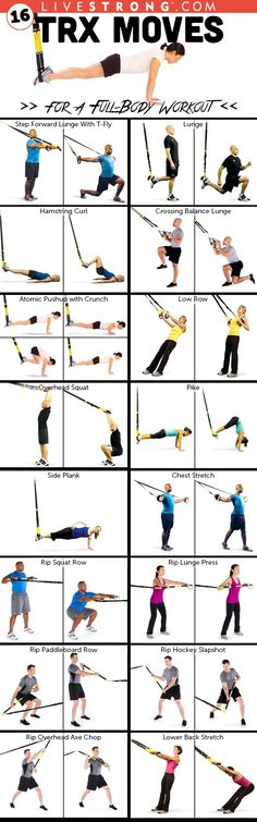 16 TRX Moves for a Full-Body Workout @trxtraining  http://www.livestrong.com/slideshow/1008001-16-trx-moves-30minute-fullbody-workout/ #weightlosstips/ TRX es la actividad que compare en la mayoria de las tendencias hace unos años: insusituible!
