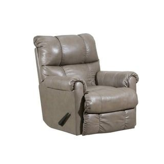 Mastro Heat Massage Wall Saver Recliner Leather Look Tan Leather Silver Lake Lane Furniture Leather Recliner Recliner