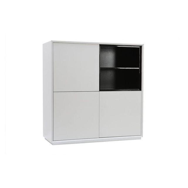 Buffet design 3 portes MDF noir et blanc ARTY MILIBOO | Coin salle ...