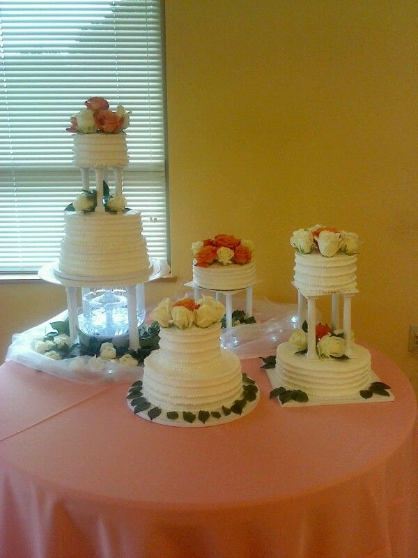 Wilton fountain with cakes by me | Xquisite Creations | Pinterest | Cake