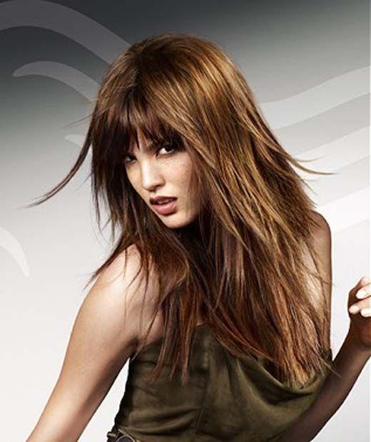 Long Choppy Hairstyles Long Choppy Hair Long Hair With Bangs Haircuts For Long Hair With Bangs