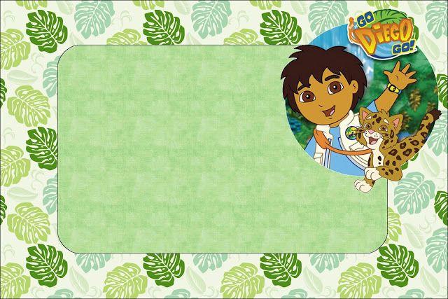 Ideas Y Material Gratis Para Fiestas Y Celebraciones Oh My Fiesta Imprimibles De Go Diego Go Diego Go Rey Leon Invitaciones