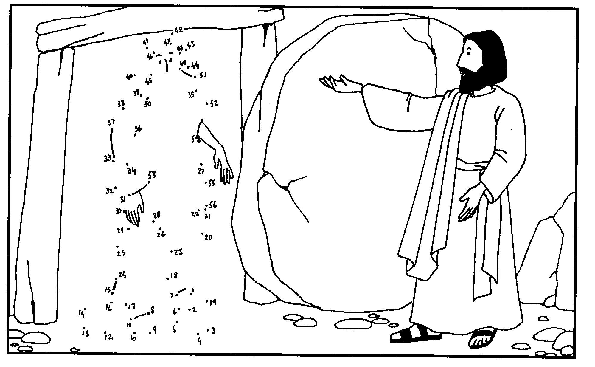 Free Coloring Pages Of With Jesus Lazarus Lazarus Raised Sunday