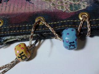 No-sew fabric journal and handmade beads