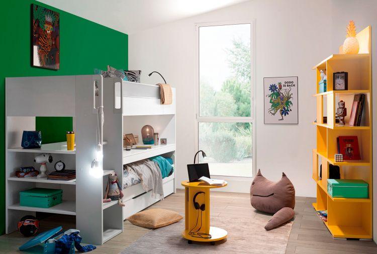 Lit Haut 90x200 Trio Lits Gain De Place Lits Multicouchages Meubles Gautier Meubles Pour Petit Appartement Meubles Gautier Petit Appartement